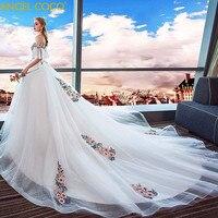 Роскошные Беременность платье для беременных Для женщин свадьба длинный хвост невесты замуж большой Размеры была тонкая крышка беременный