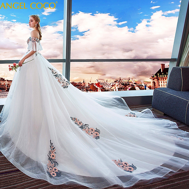 Luxury Pregnancy Maternity Dress Pregnant Women Wedding Long Tail Bride Married Large Size Was Thin Cover Pregnant Belly