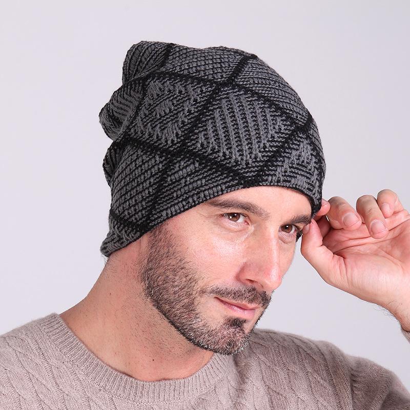 5a1de3a6 New Arrive Winter Knitting Hats for Men Cashmere Wool Warm Hat Mens ...