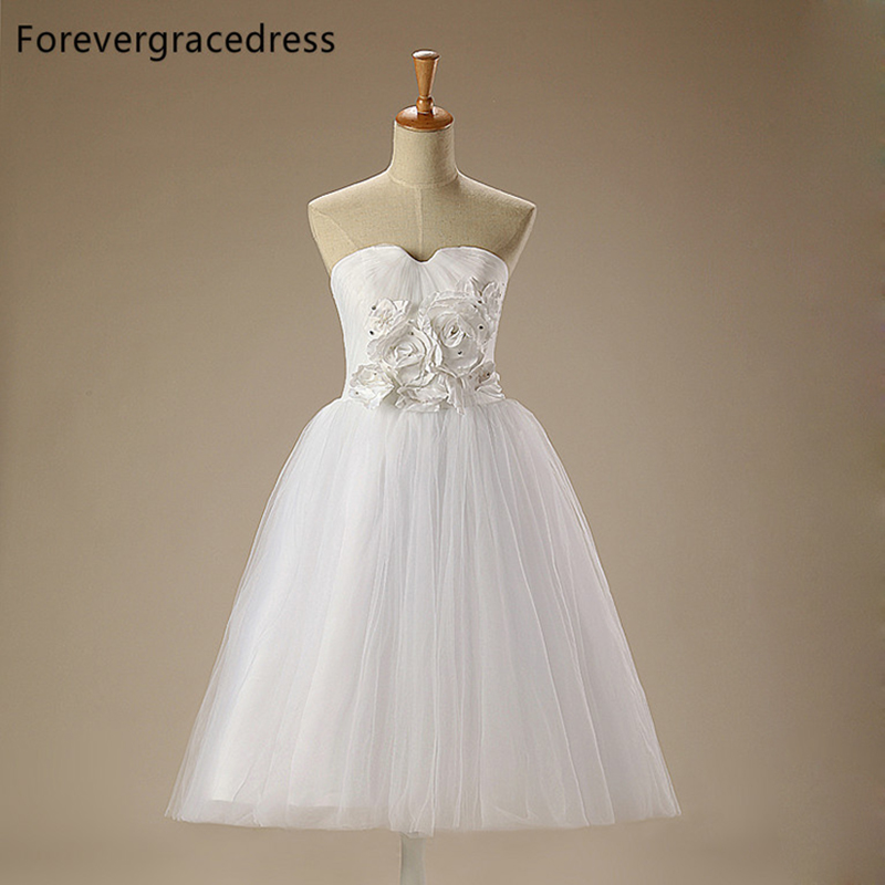 Forevergracedress Real Photos White Cheap   Flower     Girl     Dress   High Quality Tulle Children kid Birthday Party Gown