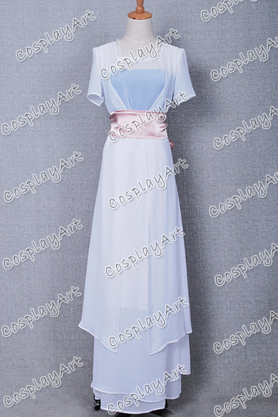 0652214da Titanic Rose Cosplay Traje Blanco Vestido de Gasa Ropa de Mujer ...
