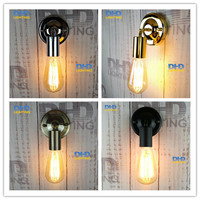 4 color DIY Wall light fixture E27 plated Loft american retro vintage iron wall lamp 90V-240V 40W Antique lamp industrial sconce