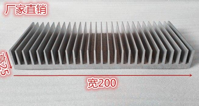 200*25*100mm Aluminum radiator Cooling fin width 200, height 25,length 100 hole processing customization oxidation radiator 5pcs lot pure copper broken groove memory mos radiator fin raspberry pi chip notebook radiator 14 14 4 0mm copper heatsink