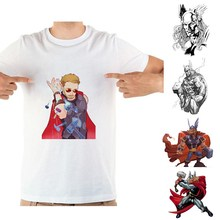 Thor Marvel Movie Summer Plus Size Loose O-NECK Modal Short Sleeve T-Shirt Fashion Casual Mens Anime Funny T Shirt A193291