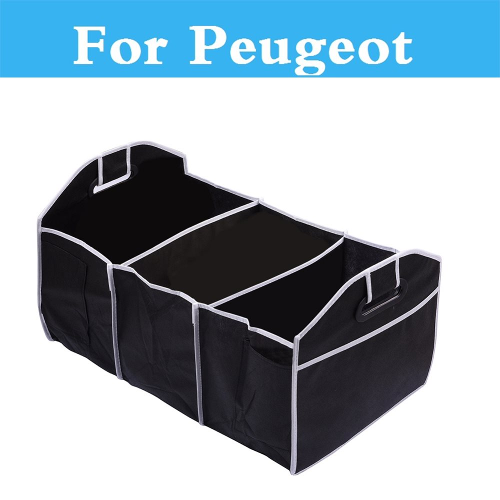 Portable Car Organizer 3 Sections Trunk Back Storage Box For Peugeot 301 307 308 3008 1007 107 108 2008 206 207 208 208 GTi|car organizer|storage box for car|car storage box - title=