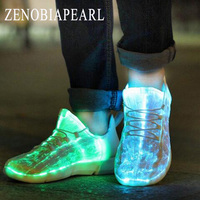 Boys Shoes Luminous Sneakers Glowing Light Up Shoes for Kids White LED Sneakers Children Flashing Shoes With Light