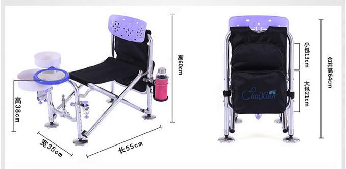 Cadeira de Pesca Fwbjkkl Livre Dobrável Fwbjkkl Livre