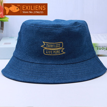 [EXILIENS] 2017 Fashion Brand Bucket Hats Cowboy Cotton Top Casual Fisherman Caps Hip-hop Hats For Men Women Lovely Fishing Hat