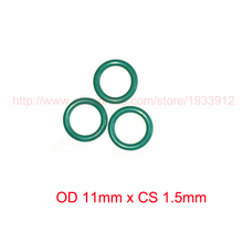 OD11mm x CS1.5mm fkm viton rubber o ring gasket seal o-ring oring 2piece size 550mm 542mm 4mm viton o ring seal dichtung green gasket of motorcycle part consumer product o ring