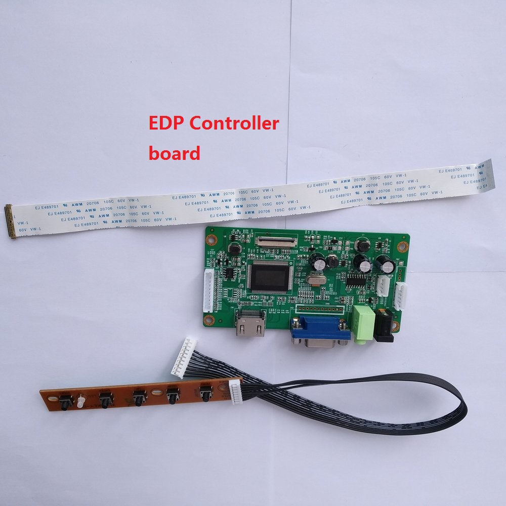 For LP156WH3-TPSH DIY DRIVER 30Pin LCD EDP KIT VGA Controller Board SCREEN Display 1366X768 Monitor 15.6