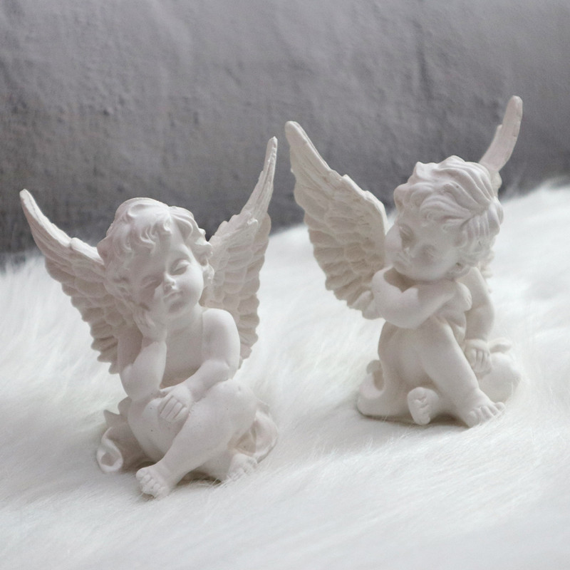Angel Gypsum Plaster Mold Concrete Silicone Baby Molds DIY Big Candle Molds Cement Craft Mold
