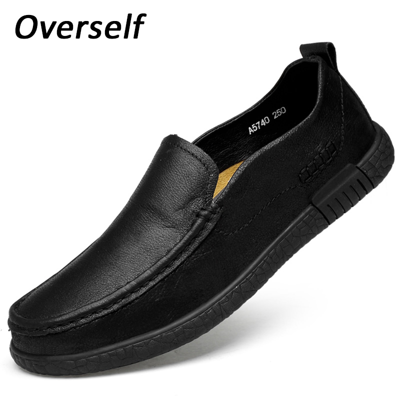 2018 New Men's Boat Shoes Handmade Moccasins For Men Genuine Leather Loafers Fashion Gray Casual Shoes Slip On Plus Big Size new fashion gold snakeskin pattern loafers men handmade slip on leather shoes big sizes men s party and prom shoes casual flats