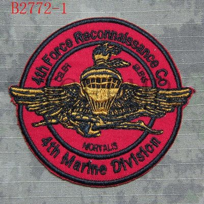 US $4 87 25% OFF USMC 4th Force Reconnaissance Co Morale tactics Military  Embroidery patch-in Patches from Home & Garden on Aliexpress com   Alibaba