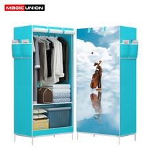Magic union armário para guarda roupas, pano de desenho animado para guarda roupas, armário, não tecido, panorama dobrável, closet 3d