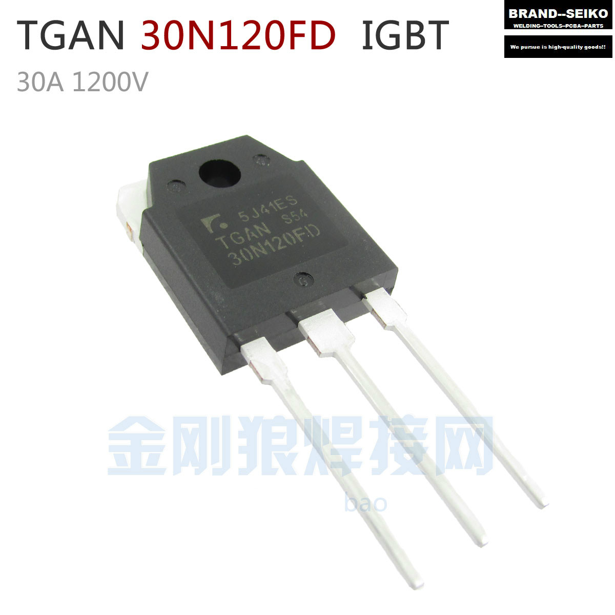 ФОТО 10PCS/LOT TGAN 30 n120fd 30 a 1200 v IGBT single pipe welding inverter