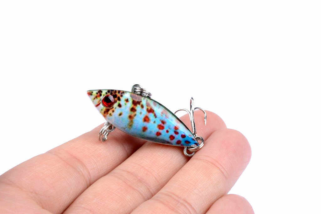 Фото 1 шт. 3D живопись VIB рыболовные приманки жесткая приманка 6 5 см/12 г кренкбейт