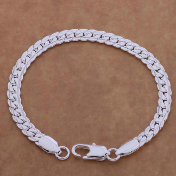 AH086 925  wholesale silver bracelet, 925 sterling silver fashion jewelry 10 m full lateral bracelet /bhiajypa auzajmga