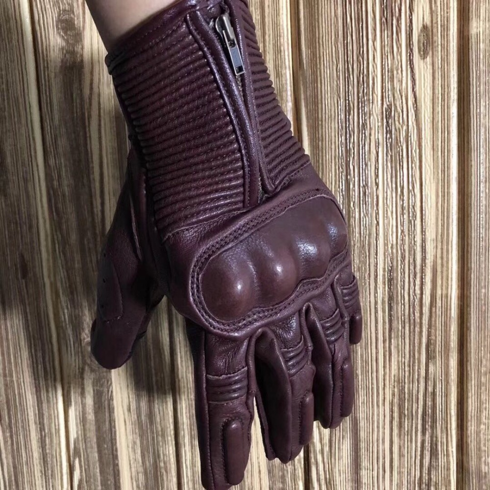 New arrival motorcycle   protect  vintage leather  glove deerskin FUYILONG
