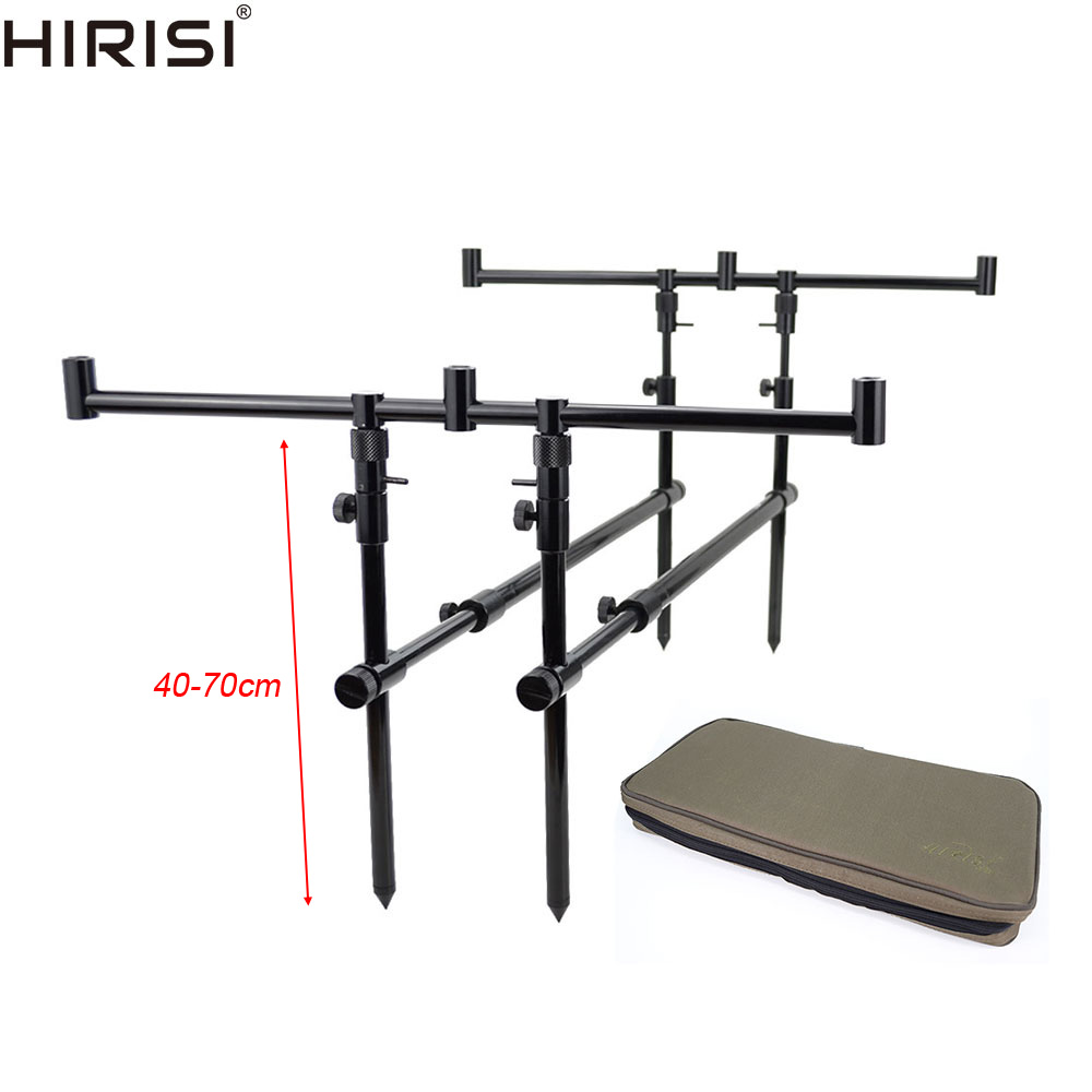 Carp Fishing Rod Pod in Carry Bag Height 40-70cm Bank Sticks Aluminium Fishing Tackle Accessories 4098