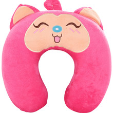 New invention comfortable Multi-Color Cartoon U Shaped neck travel pillow automatic Neck Support Head Rest Cushion