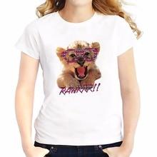 cute lion baby wear glasses t shirts feminina jollypeach new summer Tees shirt soft casual tshirt Short Sleeve T-Shirts femme