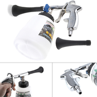 1 Litre Hand Held Pneumatic Cleaning Washing Gun With Foam Pot And Soft Brush Head For