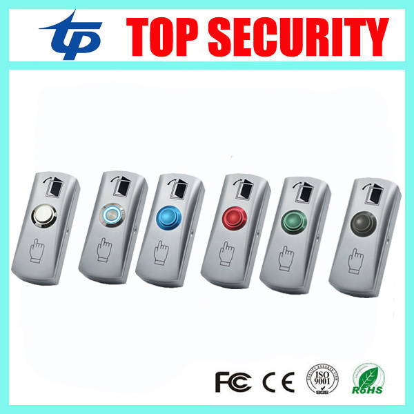 10pcs A Lot Exit Button With Led Light Zinc Alloy Exit Switch Door Release Button Door Push Button For access control System lpsecurity stainless steel door access control led backlit led illuminated push button door lock release exit button switch