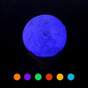 Image 4 - Alcorão lua lâmpada sem fio bluetooth alto falante toque controle remoto colorido luz conduzida da noite luar muçulmano fm tf music player