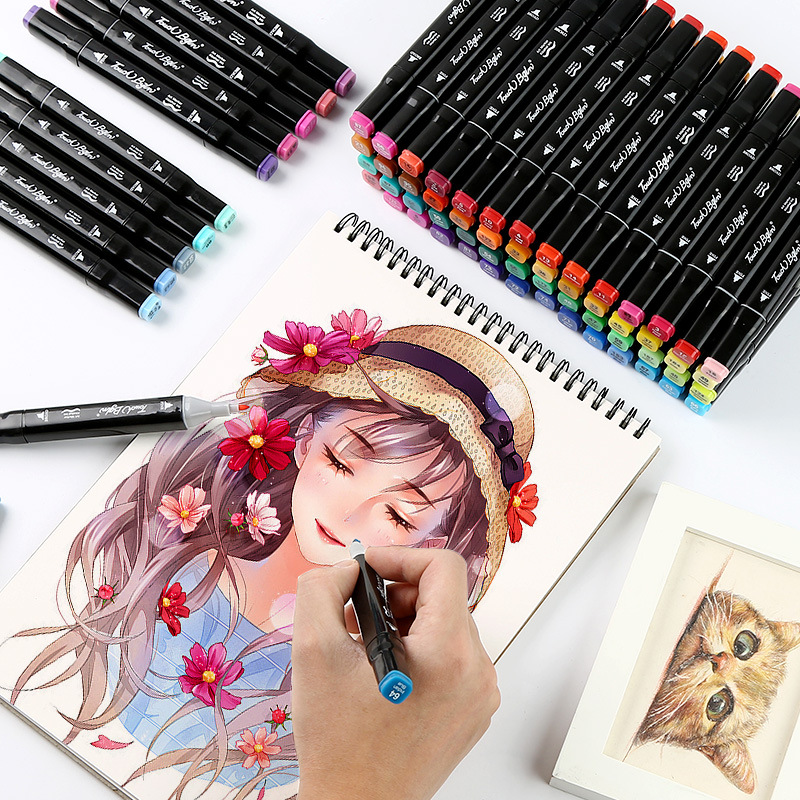 XYDDJYNL Single Colors Art Markers Dual Head Brush Pen 168 Colors Alcohol Based Markers Pens Sketch Manga Drawing Art SuppliesXYDDJYNL Single Colors Art Markers Dual Head Brush Pen 168 Colors Alcohol Based Markers Pens Sketch Manga Drawing Art Supplies