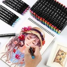 Brush-Pen Alcohol-Based Manga Drawing 168-Colors Art-Supplies Dual-Head Sketch XYDDJYNL