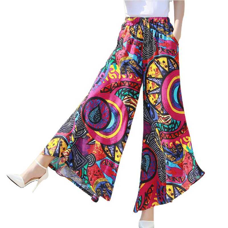 Fashionable Summer New   Wide     Leg     Pants   Cotton Linen Women   Wide     Leg     Pant   Dance Trousers High Waist Elastic Elegant Casual   Pants