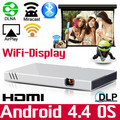 Wifi HDMI Pico Miracast Airplay Home Theater Portable HD 1080P Video LED Mini DLP Projector for Iphone Ipad Android Phone tablet