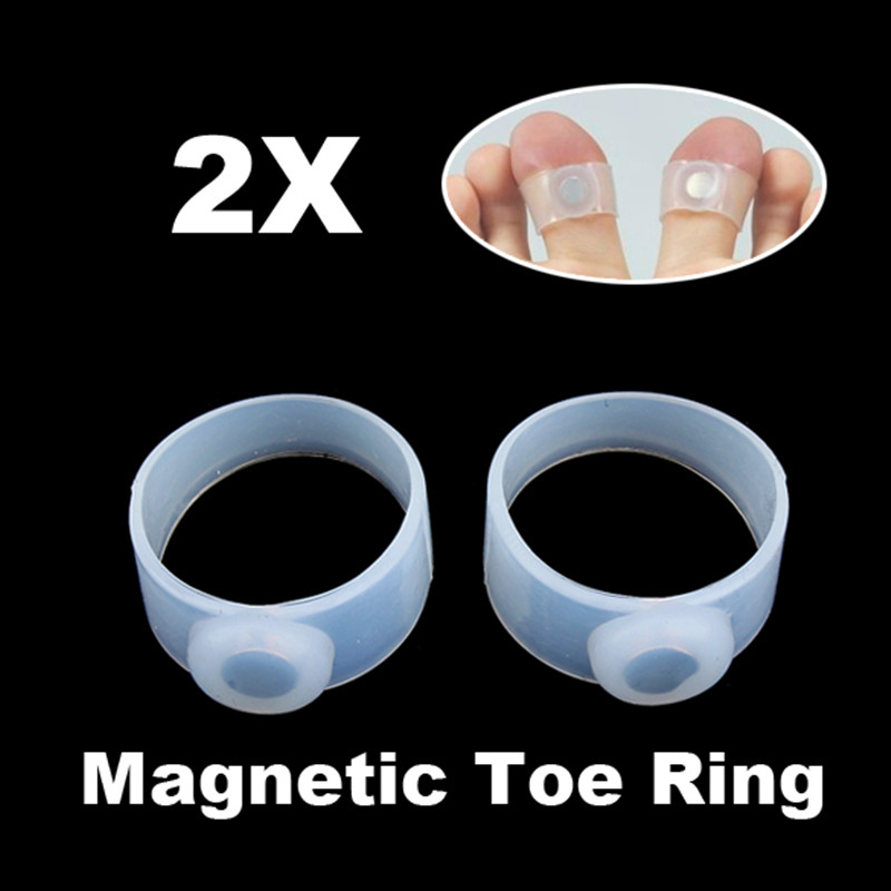 2Pcs Magnetic Therapy Slimming Toe Ring Weight Loss Burn Fat Keep Fit Silicone 1100 Magnetic Magnetic Toe Rings пояс для похудения hot shapers хот шейперс