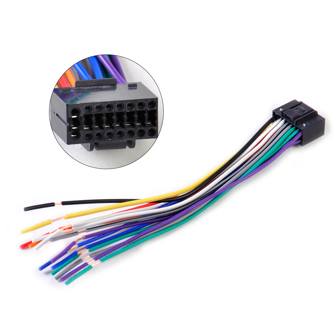 Audio Cable Wiring : Dwcx car radio stereo wire wiring harness cd player plug
