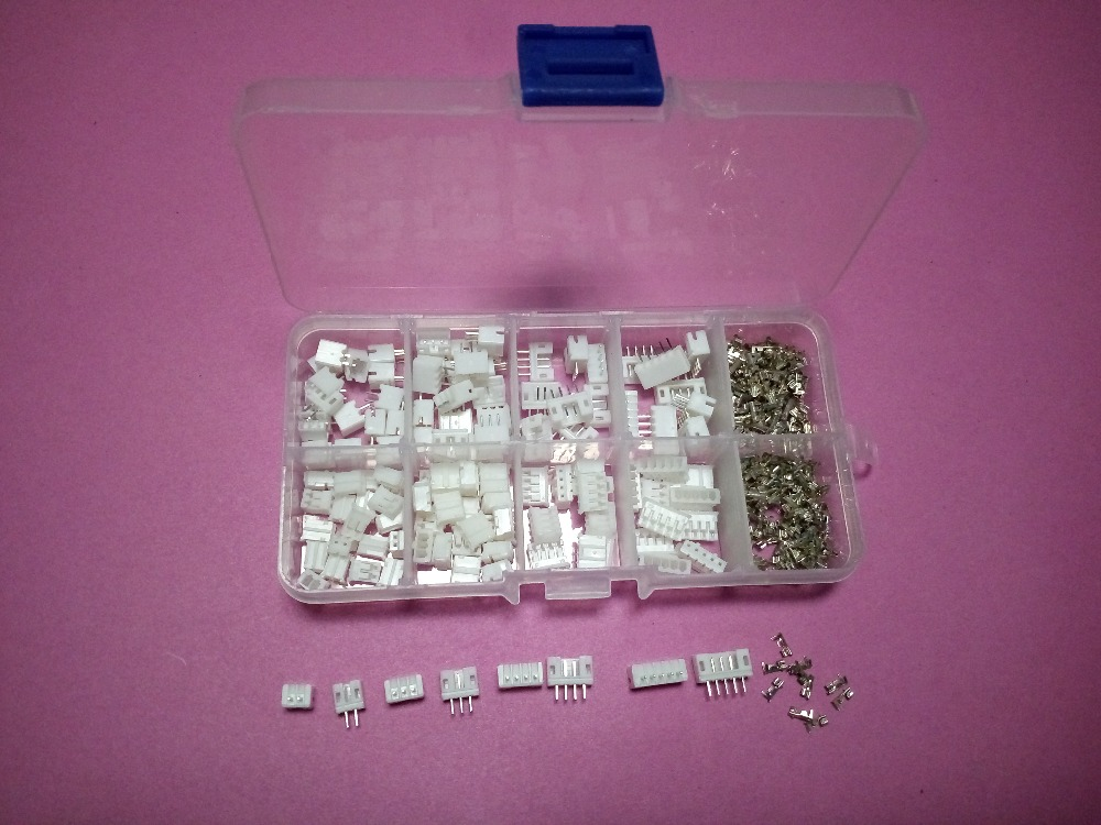 60 sets Kit in box 2p 3p 4p 5 pin 2.0mm Pitch Terminal / Housing / Straight Pin Header Connector Wire Connectors Adaptor PH Kits 1000pcs dupont jumper wire cable housing female pin contor terminal 2 54mm new