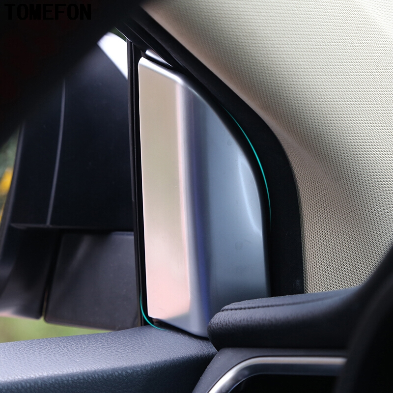 TOMEFON ABS Chrome Window Inside Triangle Garish Bezels Trims Car Accessory For Toyota Highlander Kluger XU50 2014 2015