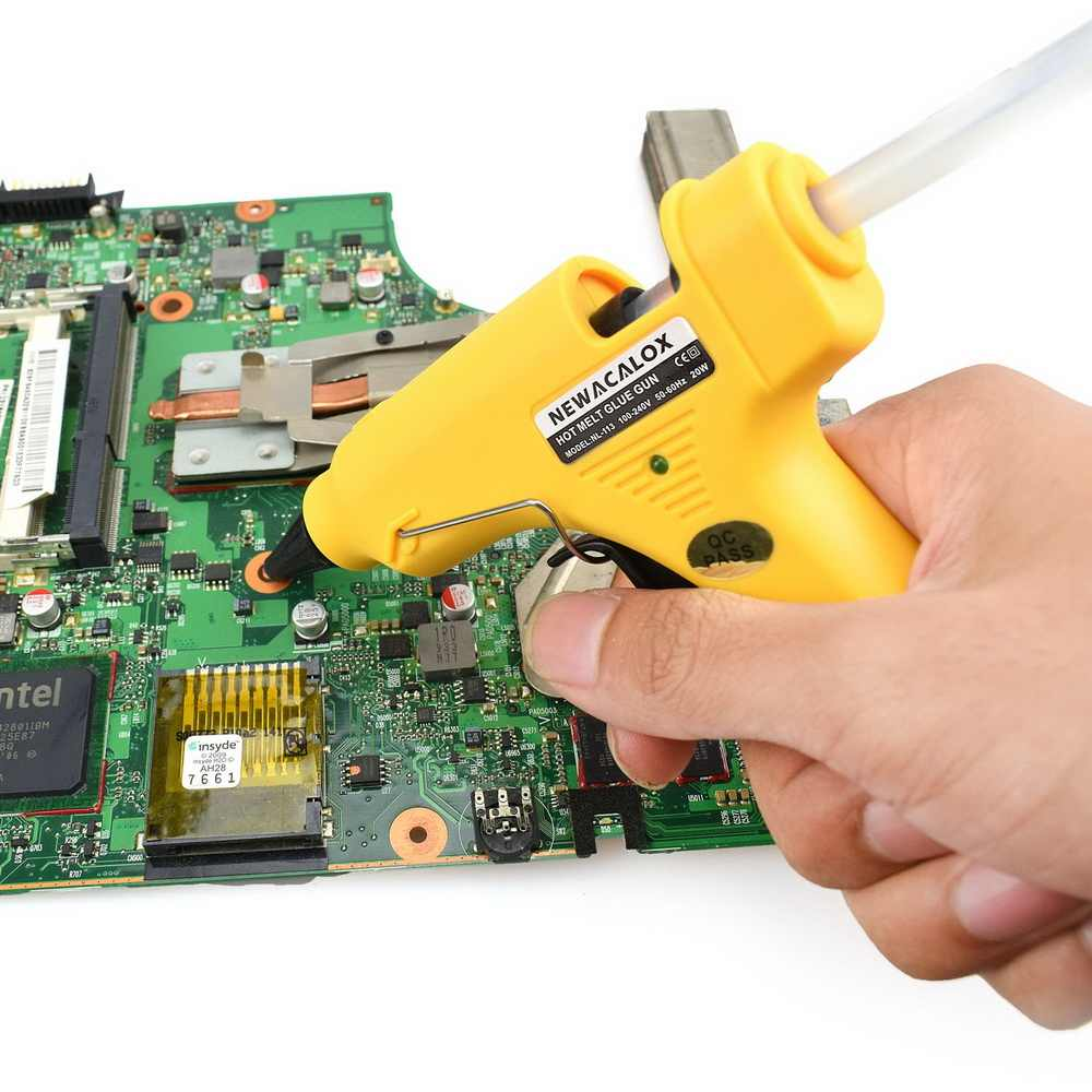 NEWACALOX 20W EU/US MINI Hot MeltกาวปืนDIY Thermo Electricกาวซิลิโคนปืนอุณหภูมิความร้อนเครื่องมือ 20PC 7mmกาวSTICK