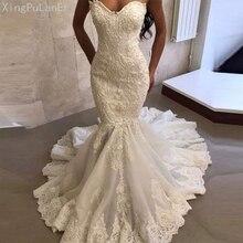 Luxury Heavy Bead Mermaid Wedding Dress 2019 Strapless Sweetheart Stunning Gowns Bride Vestido de noiva