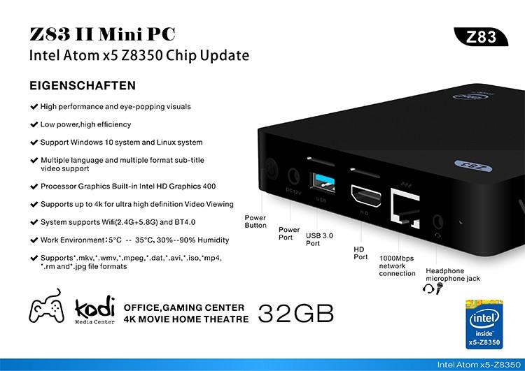 Z83II MiniPC-Intel-x5-Z8350-2