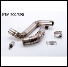 51mm Motorrad Modifizierte Abgas Mitte Rohr Fall Für KTM DUKE200 DUKE390 2012-2014