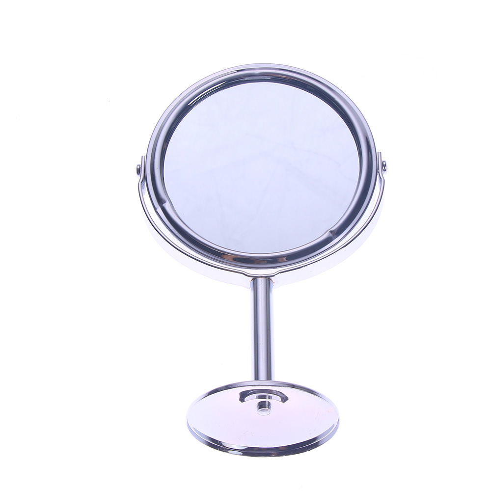 Silver Desk Type Double Side Cosmetic Makeup <font><b>Mirrors</b></font> with 1:2 Magnifying Function glass cosmetic <font><b>mirror</b></font>