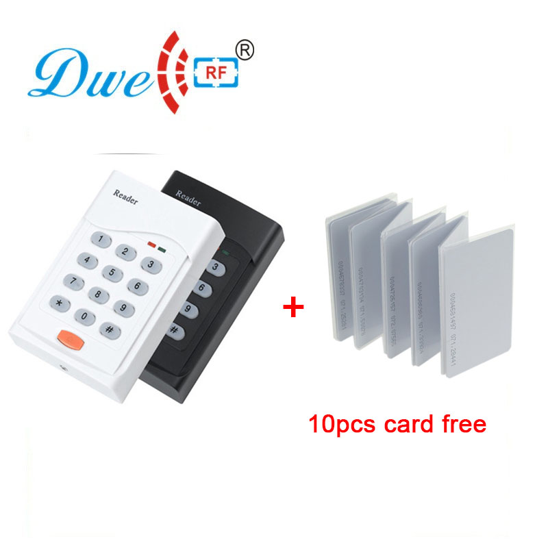 Access control card reader 125khz or 13.56mhz proximity wiegand rfid reader keypad with card cybernetics or control
