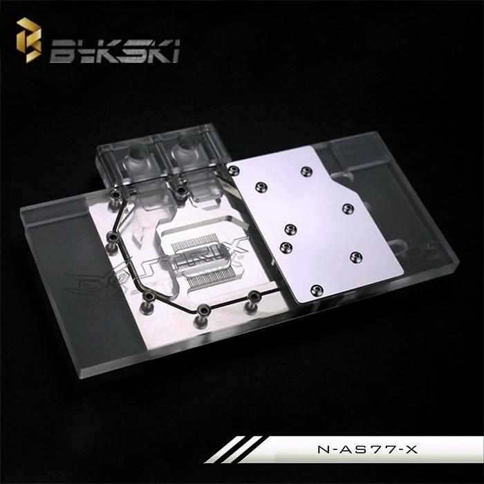 Bykski N-AS77-X Full Cover Graphics Card Water Cooling Block  for ASUS GTX680 DirectCU II TOP ASUS GTX770-DC2-2GD5 bykski n ev97squall x full cover graphics card water cooling block for evga gtx970 sc acx2 0 gtx770 gtx760