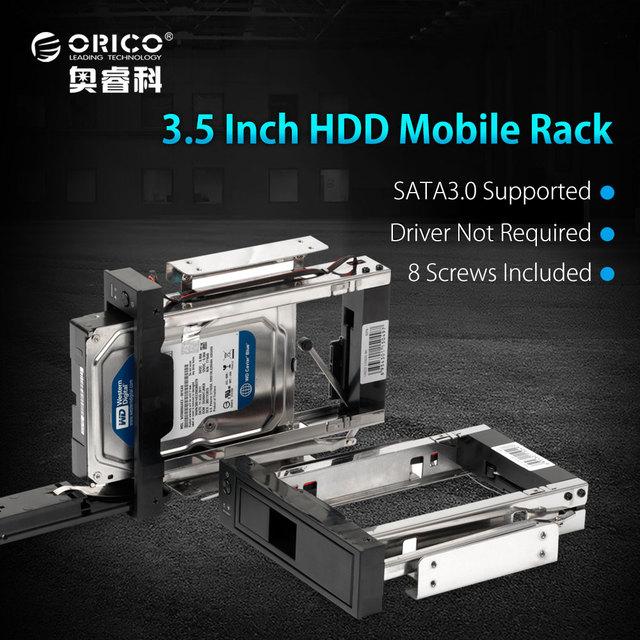 ORICO CD-ROM пространство внутренних 3.5 дюймов SATA3.0 HDD кадров/mobile rack внутреннего hdd случае [Поддержка протокола UASP и 8 ТБ HDD]-черный