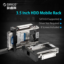 ORICO Espacio CD-ROM SATA3.0 DISCO DURO interno de 3.5 pulgadas Marco/Bastidor Móvil Caja del DISCO DURO Interno [Protocolo UASP apoyo y 8 TB HDD]-negro