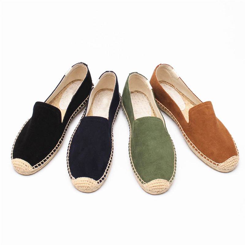 Genuine   leather   Casual Fashion Loafer Slip on Comfortable Shoes for Women & Ladies, Women's Classic Flat Espadrille Walking Shoe