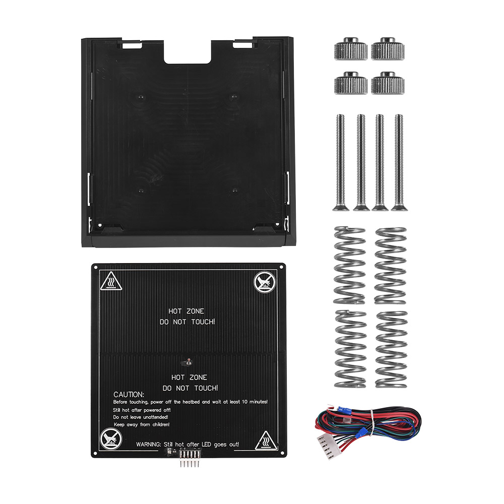 3D Printer Aluminum Heat Bed 12V Build Surface With Removable Printing Platform Set For Anet A8 3D Printer Accessories