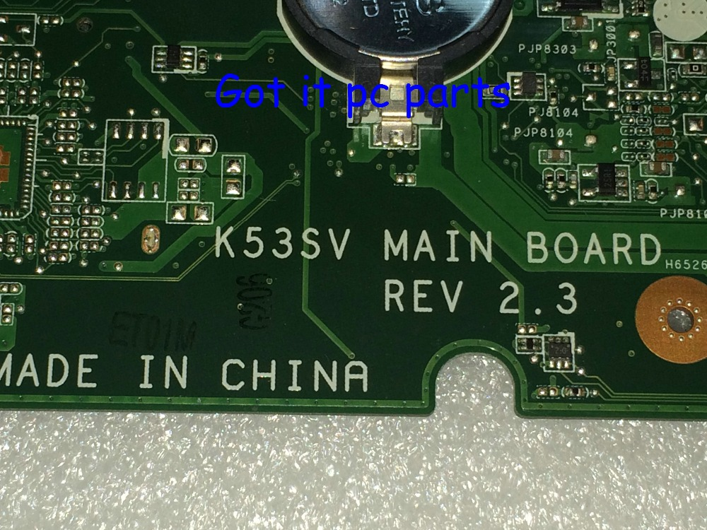 FREE SHIPPING NEW Laptop Motherboard K53SV REV : 2.3 Fit FOR ASUS NOTEBOOK PC GT540M N12P-GS-A1