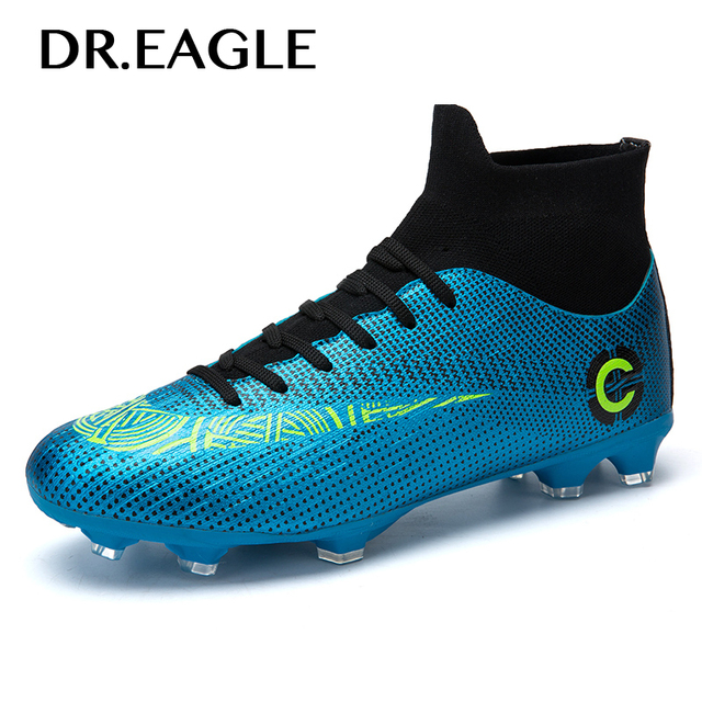 Centipede Football Boots Man Soccer Artificial Grass Original FG Superfly High Ankle Kids Shoes Crampons Outdoor Sock Cleats