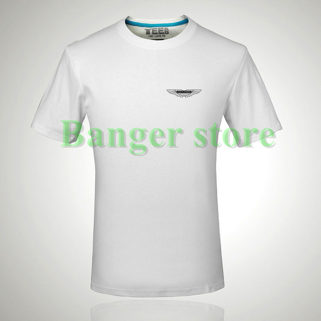 Aston Martin Car Logo Cotton Brand T Shirt For Women And Menin T - Aston martin shirt